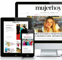 Rediseño en responsive portal mujerhoy.com. A Art Direction, Editorial Design, Fashion, Information Design, and Web Design project by Rebeca Ramiro Ríos - 10-01-2016