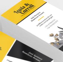Tarjetas de visita Lewis & Carroll. Um projeto de Design, Br, ing e Identidade e Design gráfico de Cristina Camazón Herráez         - 02.02.2016