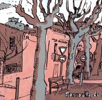 Sketch. 2colores (naranja/gris) 2 máscaras texturas(1 por caanal de color) GRACIAS PUÑO PEÑA. Un proyecto de Ilustración de Xavier Krauel - Martes, 09 de febrero de 2016 00:00:00 +0100