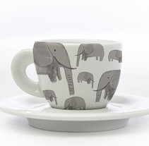 Elephant Pattern. A Product Design project by Maria B.         - 09.02.2016