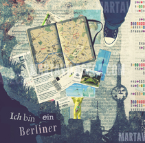 Ich bin ein Berliner. A Collage, and Graphic Design project by Marta Vilaseca - Feb 11 2016 12:00 AM