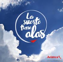 LA SUERTE TIENE ALAS - Activación para Avianca . Um projeto de Design gráfico de Roncesvalles Alzueta Domeño         - 11.05.2016