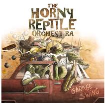 The Horny Reptile Orchestra. Um projeto de Ilustração e Design de produtos de Alberto Costa Gómez - 14-02-2016