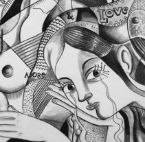 Cubismo, Pablo Picasso y yo. Un proyecto de Ilustración y Pintura de Sonia Alins Miguel - 31-12-2015