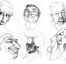 Random faces. A Design, Illustration, Character Design, and Fine Art project by Carlos Gollán - 26-02-2016