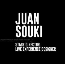 Juan Souki - Stage Director - Live Experience Designer. Un proyecto de Br, ing e Identidad y Diseño gráfico de Lorena Franzoni  - 29-02-2016