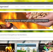 """Diseño Web """"Aprosol"""". Un proyecto de Br, ing e Identidad, Diseño gráfico, Diseño Web y Desarrollo Web de DCI Punto y Coma         - 06.03.2016"""