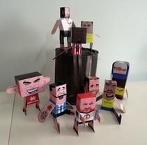 """""""La Liga"""" paper toys. Un proyecto de Diseño de personajes e Ilustración de Ralf Wandschneider - Miércoles, 09 de marzo de 2016 00:00:00 +0100"""