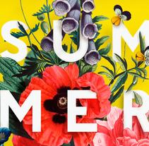 Poster Summer House restaurant. Un proyecto de Dirección de arte, Diseño gráfico y Tipografía de Carolina Carvalho - 09-03-2016