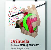 CARTEL FIESTAS MOROS Y CRISTIANOS ORIHUELA 2014. A Graphic Design project by Javier Abellán García         - 17.02.2014
