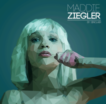 Maddie Ziegler | Low Poly. A Design, Character Design, and Graphic Design project by Oscar Tellez         - 24.03.2016