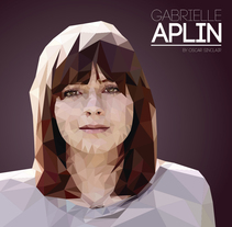 Gabrielle Aplin | Low Poly. A Design, Character Design, and Graphic Design project by Oscar Tellez         - 26.03.2016