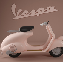 VESPA TOYS. A Design, Motion Graphics, 3D, To, and Design project by Eduardo Pérez Borrachero         - 27.03.2016