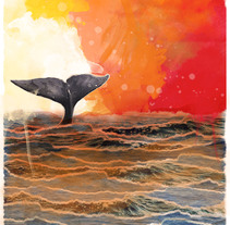 Day and night whale. A Design, and Collage project by Diana Armisén Gracía-Santamarina         - 04.04.2016