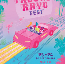 TruenoRayo Fest. A Illustration, Graphic Design, T, and pograph project by Ana Galvañ - 06-04-2016