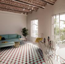 interior bcn. Un proyecto de 3D y Arquitectura de Sergio González         - 12.04.2016