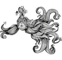Line art Ethnic Fish. Um projeto de Design e Ilustração de Virginia Damara         - 12.04.2016