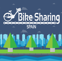 Bikesharing Spain (Navsta Rota). A Illustration, Art Direction, and Graphic Design project by Domingo Hernández Vaquero - 14-04-2016