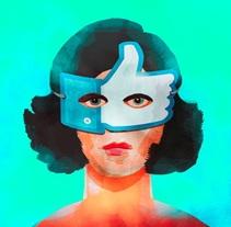 Ilustración para representar la fama en internet.. Um projeto de Ilustração de Lucía Fernández          - 22.04.2016