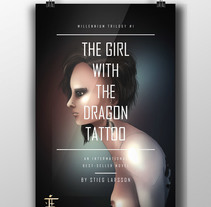 The Girl with the Dragon Tatto. A Illustration, and Graphic Design project by Javier Alamo Carmona - 24-04-2016