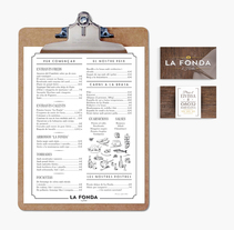 Branding restaurant La Fonda d'Horta. A Design, Br, ing, Identit, and Graphic Design project by disparoestudio - Apr 26 2016 12:00 AM