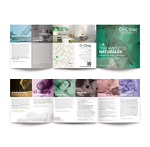 Comunicación gráfica y website D·Clinic Barcelona. A Design, Editorial Design, Graphic Design, and Web Design project by disparoestudio - Apr 26 2016 12:00 AM
