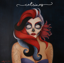 CATRINAS. A Illustration, Fine Art, and Painting project by Noly Riv Mir - 28-04-2016