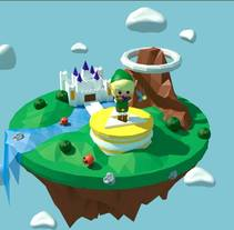 Link´s ocarine - The legend of Zelda. A 3D, Animation, and Graphic Design project by Almudena Arroyo         - 30.04.2016