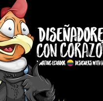 Cóndor cartel / Diseñadores con corazón !. Un proyecto de Diseño, Ilustración, Animación y Diseño de personajes de Daniel Carrillo         - 13.05.2016