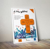 el dau solidari Cartel. A Graphic Design project by Sergi García         - 24.10.2015