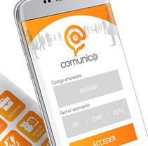 App T-Comunica. A UI / UX, Graphic Design&Interactive Design project by Niko Tienza - Apr 20 2016 12:00 AM
