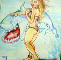 Mi amigo el tiburon. A Illustration project by Rodrigo Garcia Torres         - 22.05.2016