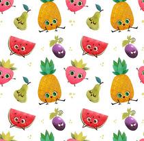 Tutti frutti party. Un proyecto de Ilustración y Diseño de personajes de Marta García Pérez - 12-06-2016