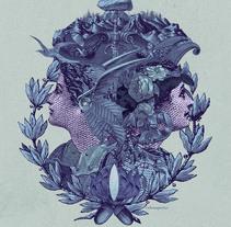 La profecía de las Oscuras, Book Cover. Un proyecto de Collage, Dirección de arte, Diseño editorial e Ilustración de Celsius Pictor  - Jueves, 16 de junio de 2016 00:00:00 +0200