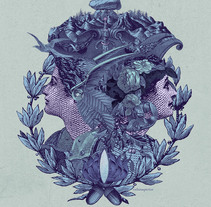 La profecía de las Oscuras, Book Cover. A Collage, Art Direction, Editorial Design&Illustration project by Celsius Pictor  - 06.16.2016