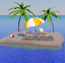 SUMMER IS HERE! . Um projeto de Motion Graphics, 3D e Animação de Rebeca G. A         - 20.06.2016