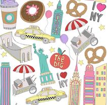Pattern Design | NY NY!. Un proyecto de Ilustración de Evangelina  - 28-07-2016