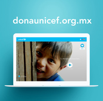 Dona UNICEF. Design concept. A Design, UI / UX, and Web Design project by Cherry Bomb Design Studio  - 31-12-2014