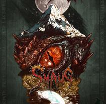 SMAUG EL TERRIBLE. Un pequeño homenaje al último gran dragón. Un proyecto de Ilustración y Bellas Artes de Francisco José Palacios Bejarano - 24-07-2016