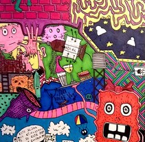 Colourful Bullet. Un proyecto de Diseño, Ilustración, Dirección de arte, Diseño de personajes, Diseño gráfico, Pintura, Comic y Arte urbano de Dani Sanguineti - 26-07-2016