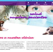 Diseño web Ayavet. Un proyecto de Diseño Web de Sara Martínez         - 27.07.2016
