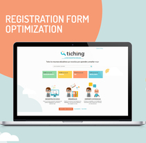 Tiching | Optimization of the registration forms. Un proyecto de Ilustración, UI / UX y Diseño Web de ely zanni - 29-07-2016