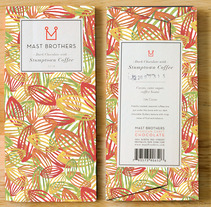 Mi Proyecto del curso: Motivos para repetir. Packaging caja de chocolate MAST BROTHERS. A Illustration project by cande7a         - 16.08.2016