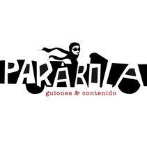 Logotipo Parábola Guiones & Contenido. Un proyecto de Diseño e Ilustración de carmela usoz otal - Domingo, 21 de agosto de 2016 00:00:00 +0200