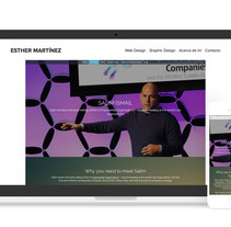Web site for Salim Ismail, author of Exponential Organizations. Un proyecto de Diseño Web y Desarrollo Web de Esther Martínez Recuero - 25-08-2016