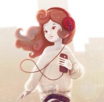 Reflejos del atardecer. Um projeto de Ilustração de Efrén Rodriguez Hernandez         - 26.08.2016