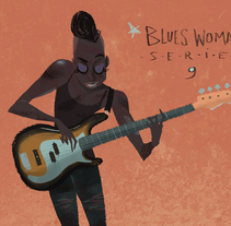Blues Wo/Man Sèries.. Un proyecto de Ilustración de Andrés Arcos Corretjé         - 01.09.2016