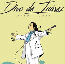 Ilustración tributo Juan Gabriel. A Illustration project by Chuy Velez - 03-09-2016