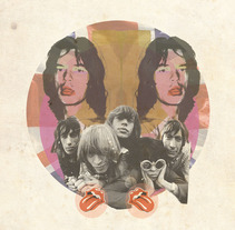 Rolling Stones. A Illustration, Graphic Design, and Collage project by loredana ardissone - 05-09-2016