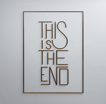 This Is The End. Um projeto de 3D, Animação e Tipografia de Rebeca G. A         - 06.09.2016